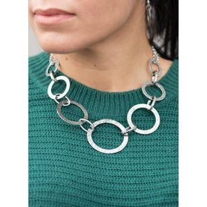 Paparazzi - Silver - Necklace & Earrings - #238